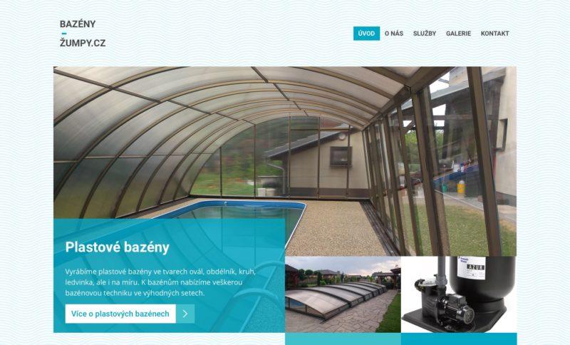 Grafický návrh webových stránek bazeny-zumpy.cz