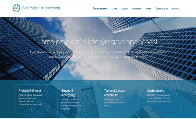 Webové stránky na míru pro společnosti GM Projekt s.r.o.